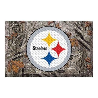 NFL - Pittsburgh Steelers 19 in. x 30 in. Outdoor Camo Scraper Mat Door Mat