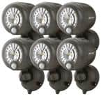 Wireless 120° Bronze Motion Sensing Outdoor Integrated LED Security Spot Light (6-Pack)
