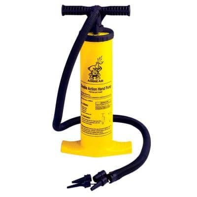 Double Action Yellow Inflatable Hand Pump