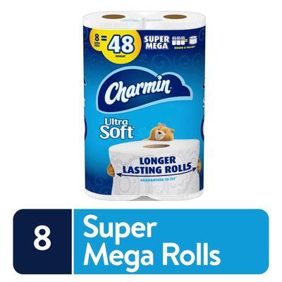 Ultra Soft Super Mega Roll Toilet Paper (396-Sheets per Roll) (8-Rolls)