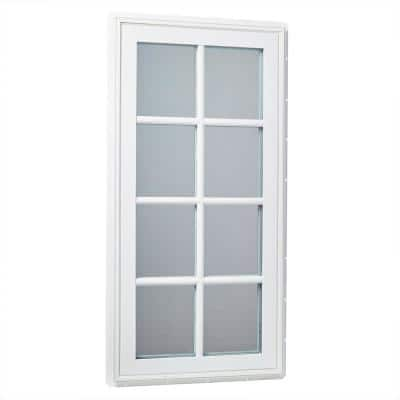 24 in. x 48 in. Right-Hand Vinyl Casement Window with SDL Outside Grids and Screen - White