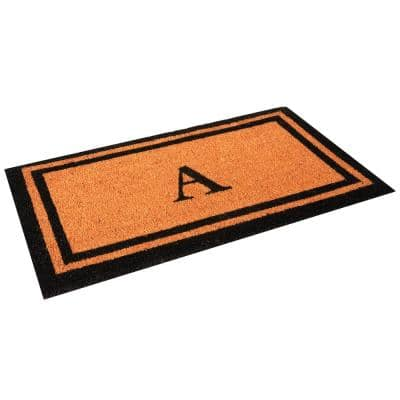 Customized Monogram Collection Letter A 18 in. x 30 in. Personalized Coir with Non-Slip Backing Outdoor Welcome Door Mat