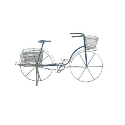 Farmhouse 28 in. x 50 in. Iron and Aluminum Bicycle Planter