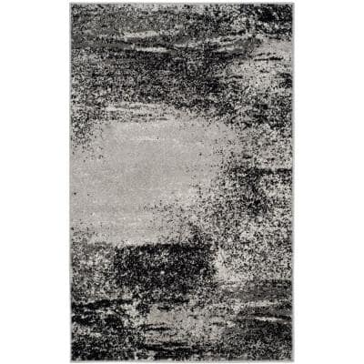 Adirondack Silver/Multi 3 ft. x 5 ft. Solid Area Rug