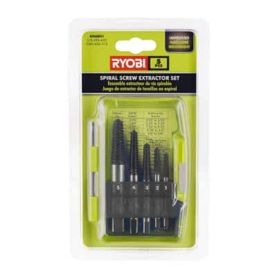 Spiral Screw Extractor Set (5-Piece)
