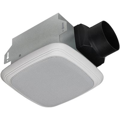 Decorative White 70 CFM Bluetooth Stereo Speaker Exhaust Bath Fan