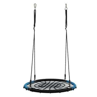 Spider Web Round Swing with Adjustable Ropes, Black