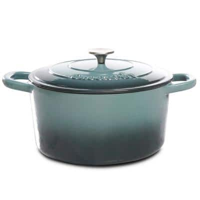 Artisan 7 qt. Round Cast Iron Nonstick Dutch Oven in Slate Gray with Lid