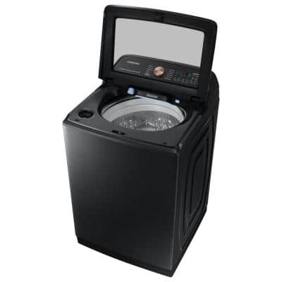 5.5 cu. ft. Extra-Large Capacity Smart Top Load Washer with Auto Dispense System in Brushed Black