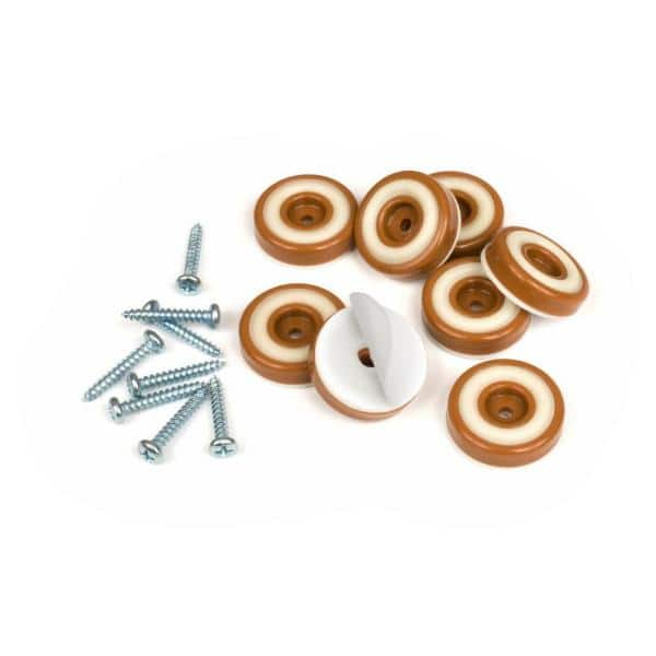 Slipstick 1 4 In Round Caramel Brown, Feet For Furniture Home Depot