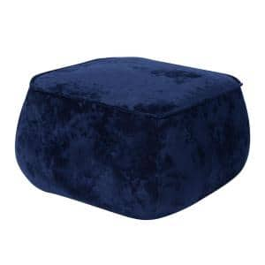 Blue Living Room Square Ottoman