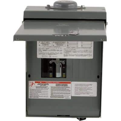 QO 30-Amp 4-Space 8-Circuit Generator Main Breaker Outdoor Manual Transfer Switch