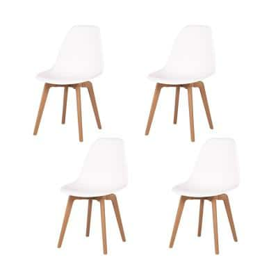 Heron White Dining Chair (Set of 4)