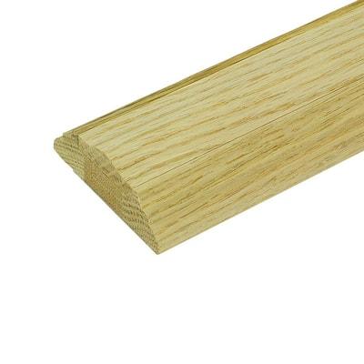 1 ft. Unfinished Oak Shoe Rail with Fillet
