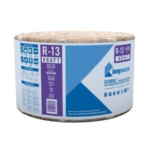 R-13 EcoRoll Kraft Faced Fiberglass Insulation Roll 3-1/2 in. x 15 in. x 32 ft.