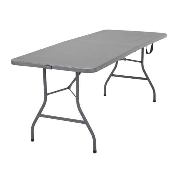 Cosco 72 In Gray Plastic Folding Banquet Table 14777gry1 The Home Depot
