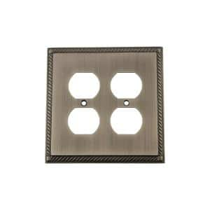 Pewter 2-Gang Duplex Outlet Wall Plate (1-Pack)