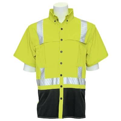 9300 Men's XL Hi Viz Vented Wind Shirt