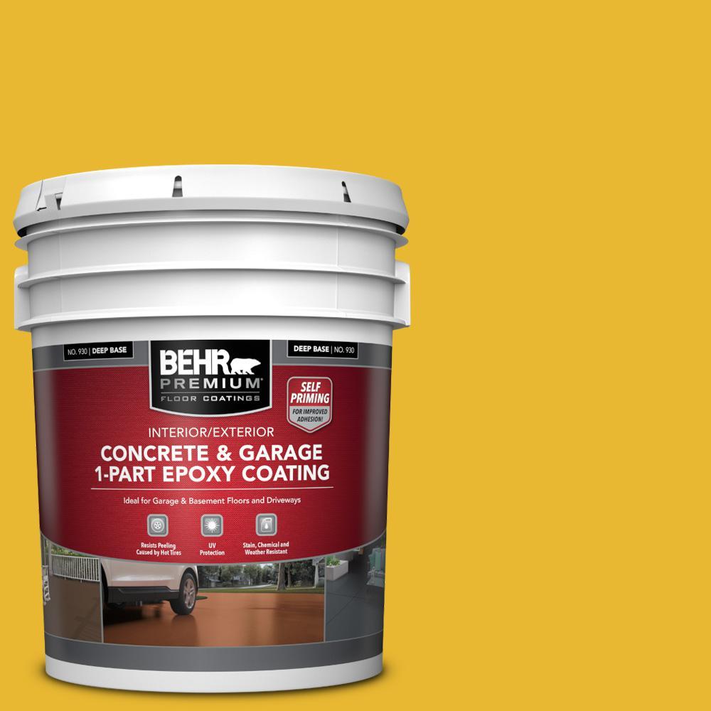 5 gal. #OSHA-6 OSHA SAFETY YELLOW Self-Priming 1-Part Epoxy Satin Interior/Exterior Concrete and Garage Floor Paint