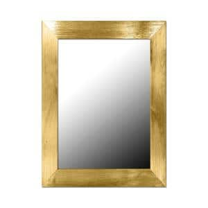 Small Rectangle Gold Novelty Mirror (18 in. H x 0.62 in. W)