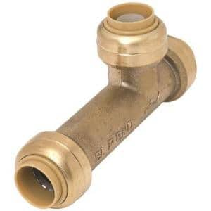 3/4 in. Brass Push-to-Connect Slip Tee Fitting