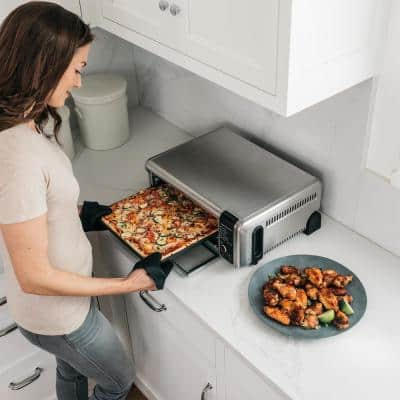 Stainless Steel Foodi Digital Air Fry Oven, Convection Oven, Toaster, Air Fryer, Flip-Away for Storage (SP101)