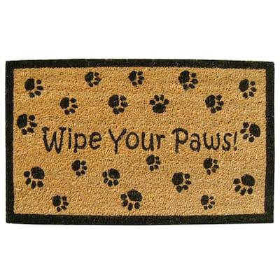 Wipe Your Paws 18 in. x 30 in. SuperScraper Vinyl/Coir Door Mat
