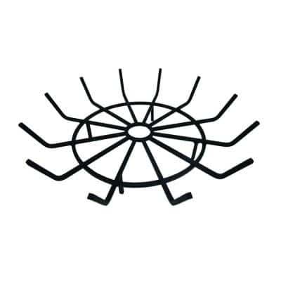 1/2 in. Thick 28 in. Wagon Wheel Steel Wood Grate