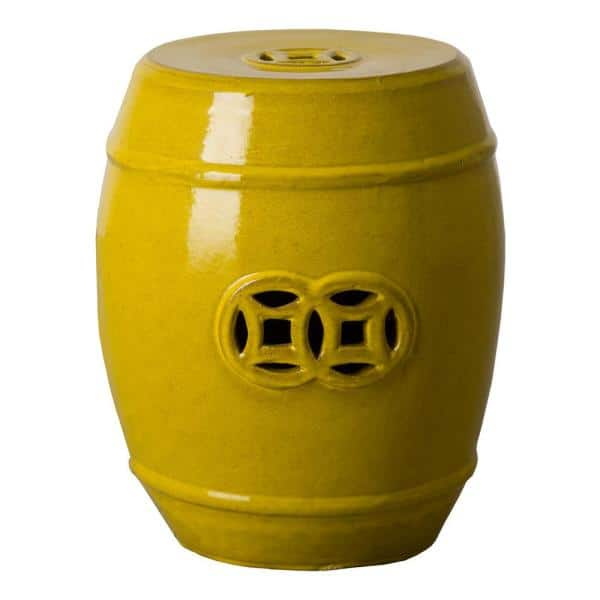 Emissary Fortune Mustard Yellow Ceramic, What Are Ceramic Garden Stools Used For