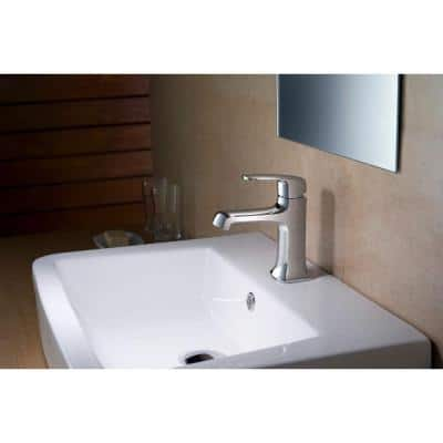 Ella Single Hole 1-Handle 1.2 GPM CALGreen Bathroom Faucet in Chrome