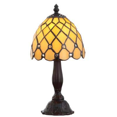 Campbell Tiffany-Style 12.5 in. Bronze Table Lamp