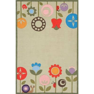 Caprice Collection Green 5 ft. x 7 ft. Indoor Area Rug