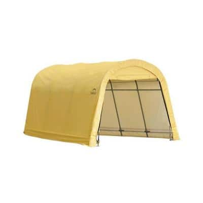 ShelterLogic 10-ft W x 15-ft D x 8-ft H Steel and Polyethylene Garage without Floor in Sandstone w/ Corrosion-Resistant Frame