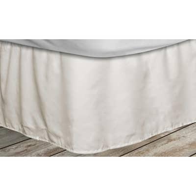 Frita 15 in. Beige Striped Queen Bed Skirt