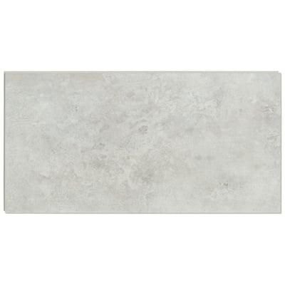 12 in. W x 24 in. L Mountains Gray Click Lock Rigid Core Luxury Vinyl Tile Flooring (19.37 sq. ft./case)