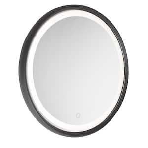 Reflections Round Matte Black Wall Mirror
