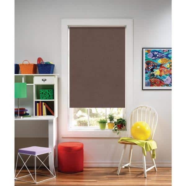 Bali Cut To Size Chocolate Cordless Uv Blocking Fade Resistant Roller Shades 43 5 In W X 72 In L 43 5x72cdlssrch The Home Depot