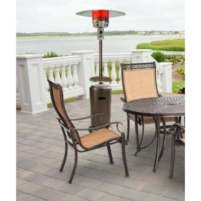 7 ft. 48,000 BTU Hammered Bronze Steel Umbrella Propane Gas Patio Heater
