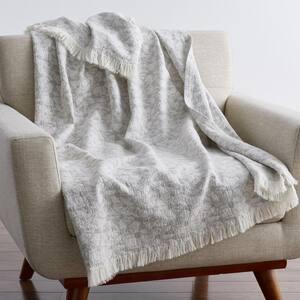 Tie Dye Gray Cotton Summer Throw Blanket