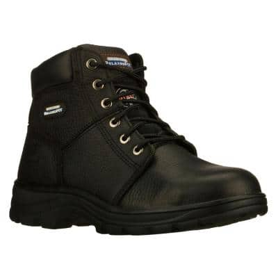 Men's Soft Stride Athletic Shoes - Steel Toe - Black Size 15(W)