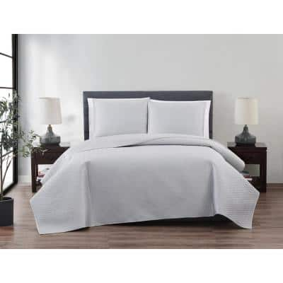 Bexley Silver 3-Piece King Quilt Set