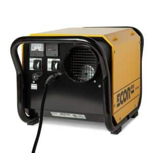150 Pint Portable Industrial Desiccant Dehumidifier for Basement, Crawl Space, Whole House and Warehouses - Yellow