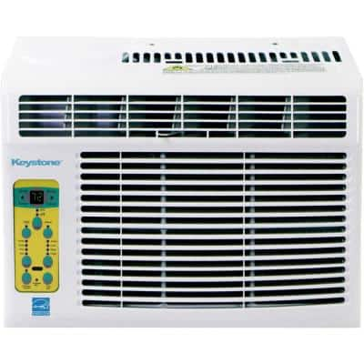 5,000 BTU Window-Mounted Air Conditioner with Follow Me LCD Remote Control in White, KSTAW05BE