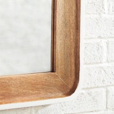 Medium Rectangle Multi-Colored Accent Mirror with White Border (24 in. H x 18 in. W)