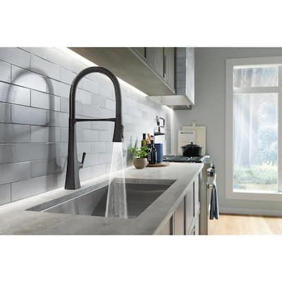 Graze Single-Handle Standard Kitchen Faucet in Matte Black