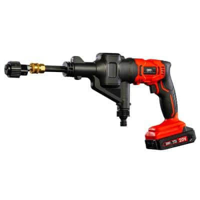 4-In-1 20-Volt Cordless Power Tool Kit with Pressure Washer, Blower, 100 PSI Inflator and Vacuum Functionality