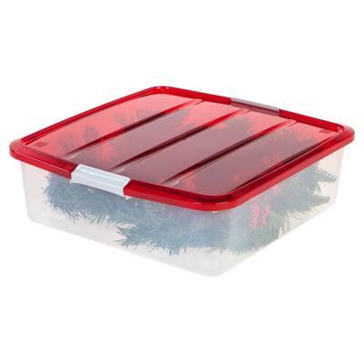 20 in. Wreath Storage Box in Red (3 per Pack)