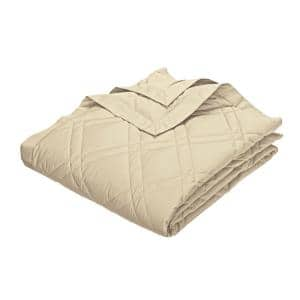Classic Down Alabaster Cotton Full Quilted Blanket