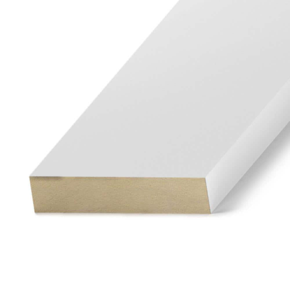 Primed Mdf Board Common 11 16 In X 5 1 2 In X 10 Ft Actual 0 669 In X 5 5 In X 120 In Mdf1x6x10 The Home Depot
