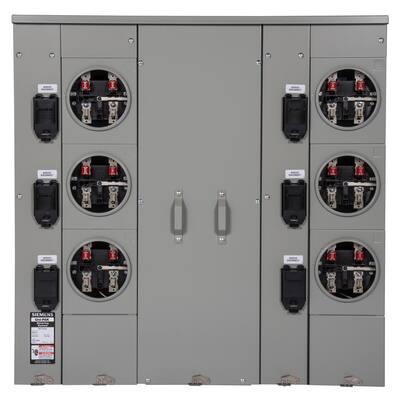Uni-PAK 6-Gang 400 Amp Ring Style Multi-Family Metering